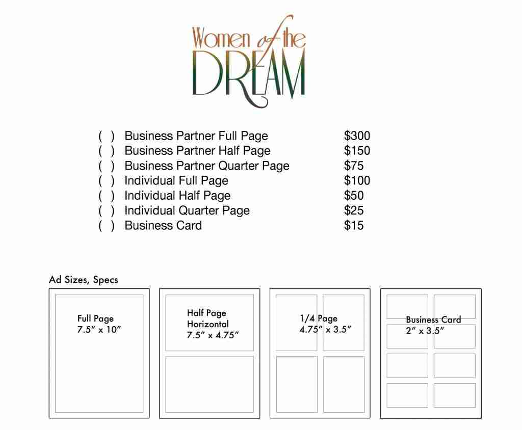 Scholarship and Awards Program Ad Form 2018 – Women of the Dream