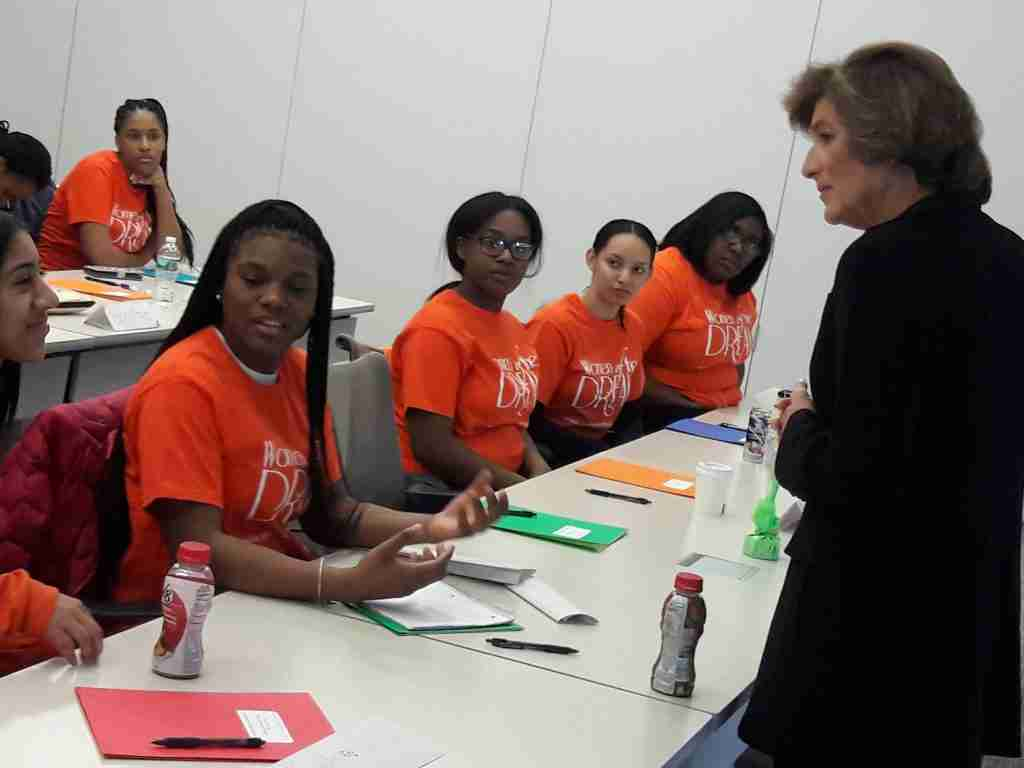 DENISE MORRISON, FORMER PRESIDENT & CEO AT CAMPBELL SOUP COMPANY, DROPS BY ETIQUETTE WORKSHOP TO SHARE WORDS OF WISDOM AND SUCCESS WITH ATTENDEES.
