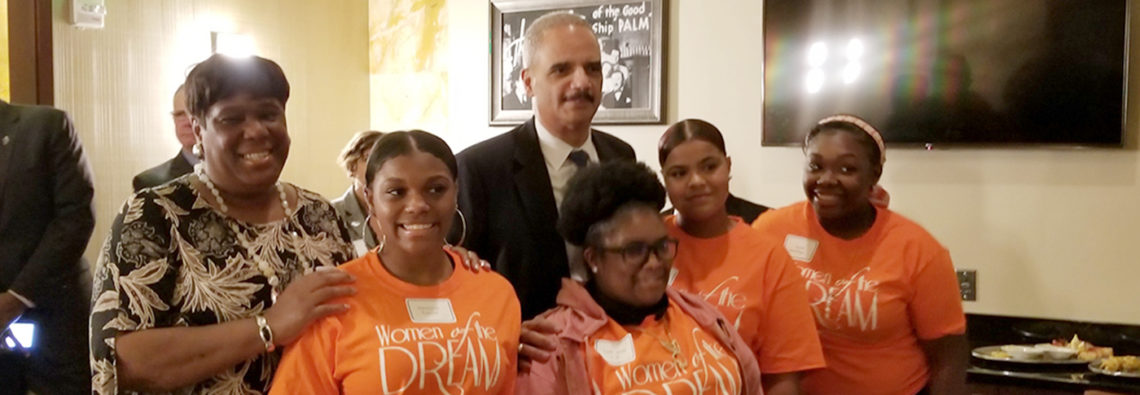 women of the dream girls meet Eric Holder